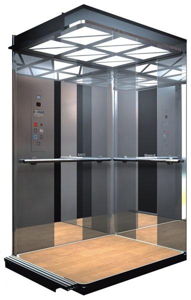Пассажирский лифт в разрезе