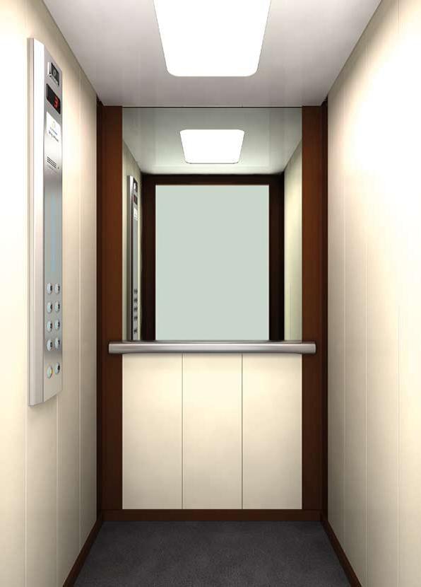 Белый интерьер лифта