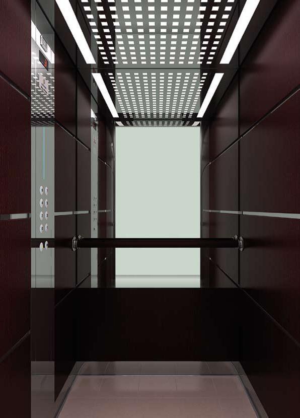 Вариант черного интерьера для лифта